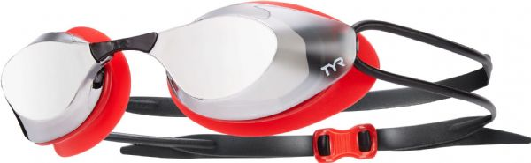 TYR Blackhawk Racing Mirrored Goggles - Red/Silver